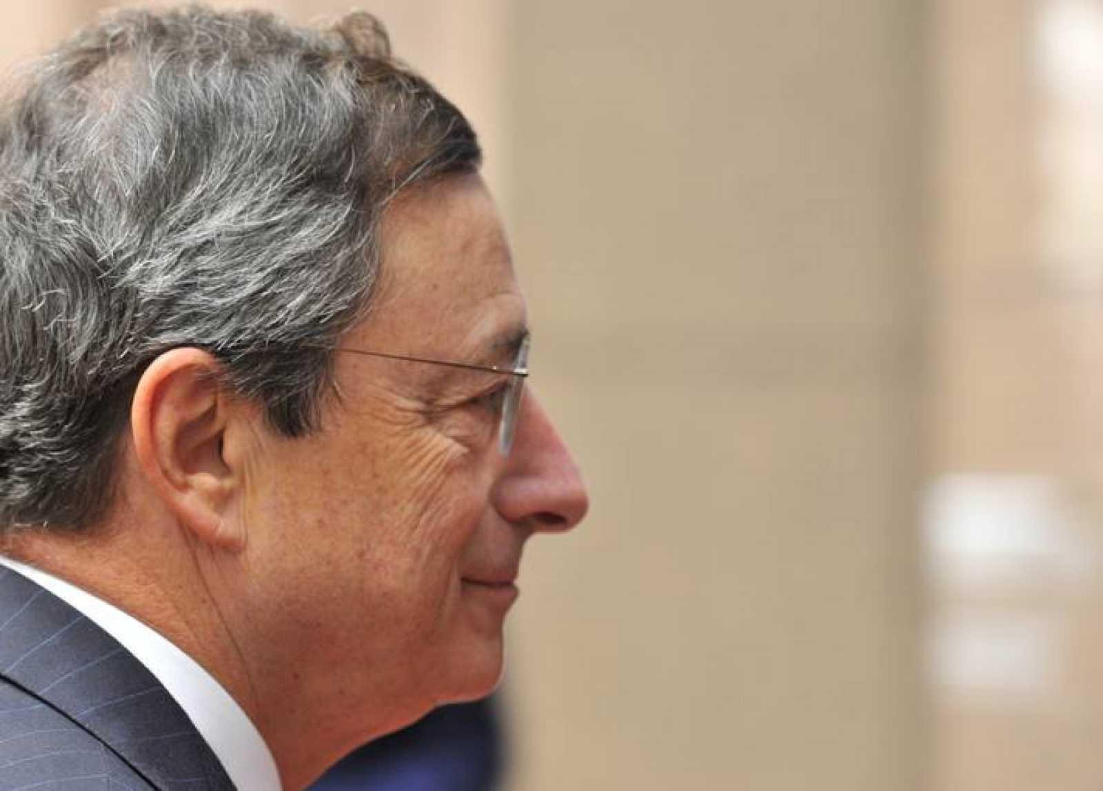 El presidente del Banco Central Europeo, Mario Draghi, llega al Eurogrupo