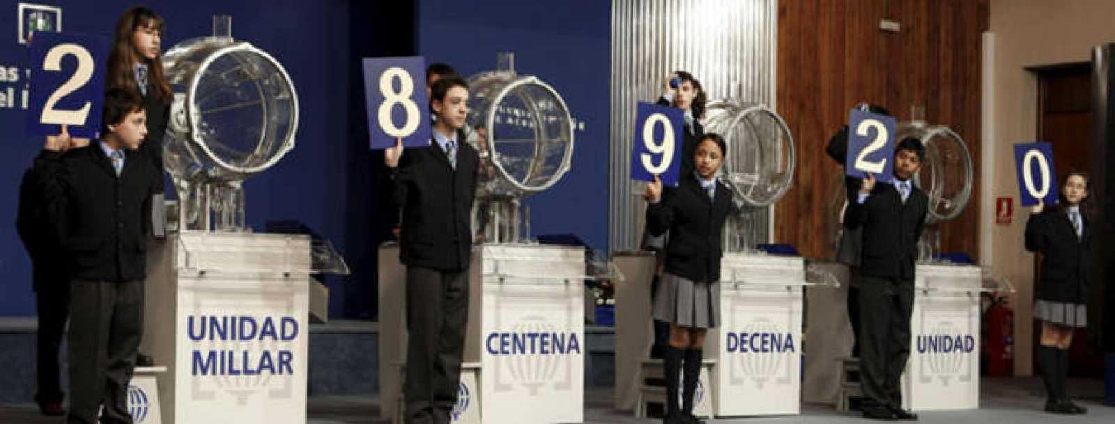 Imagen del sorteo de la Lotería del Niño