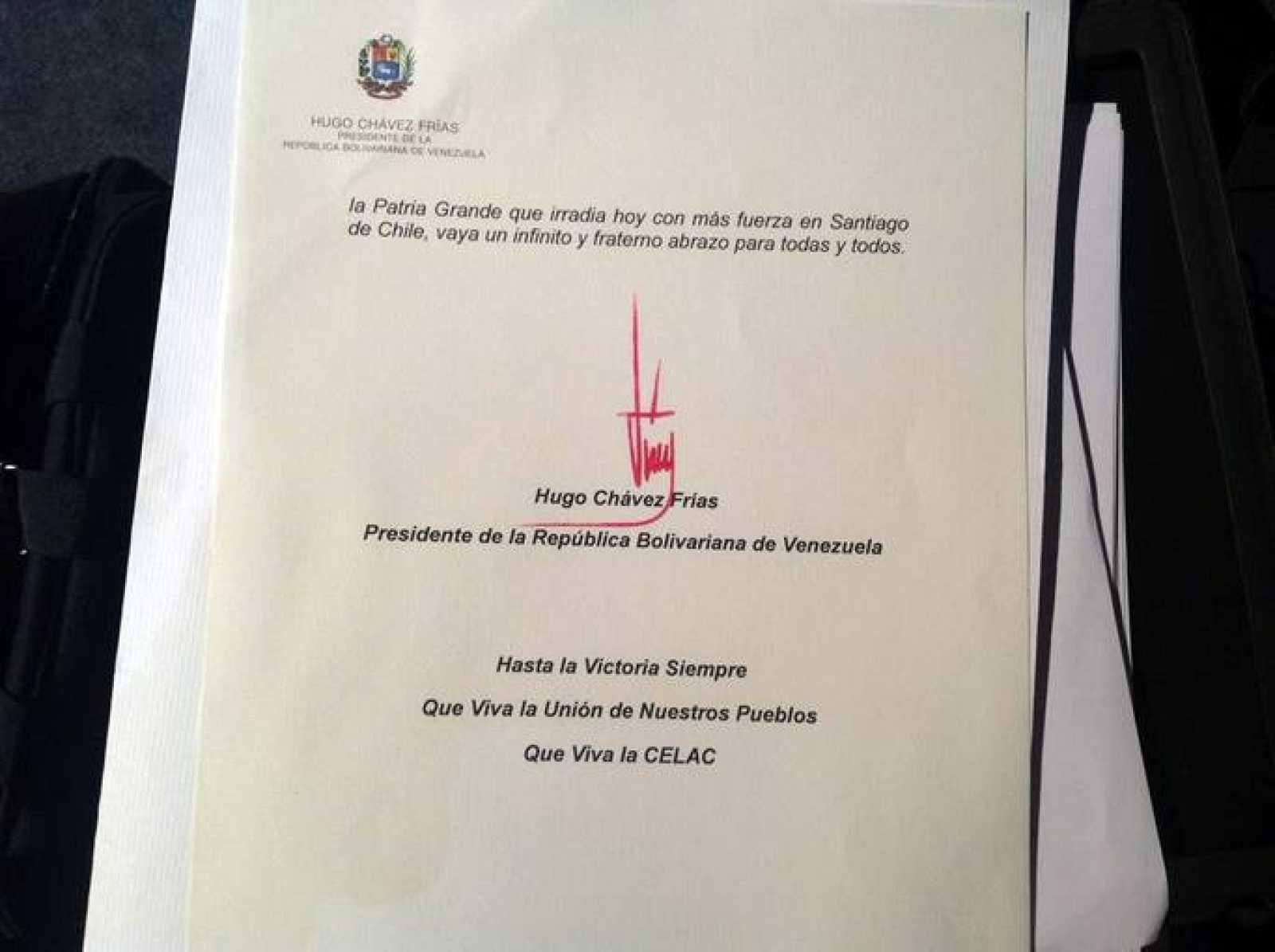 Cárta de Chávez