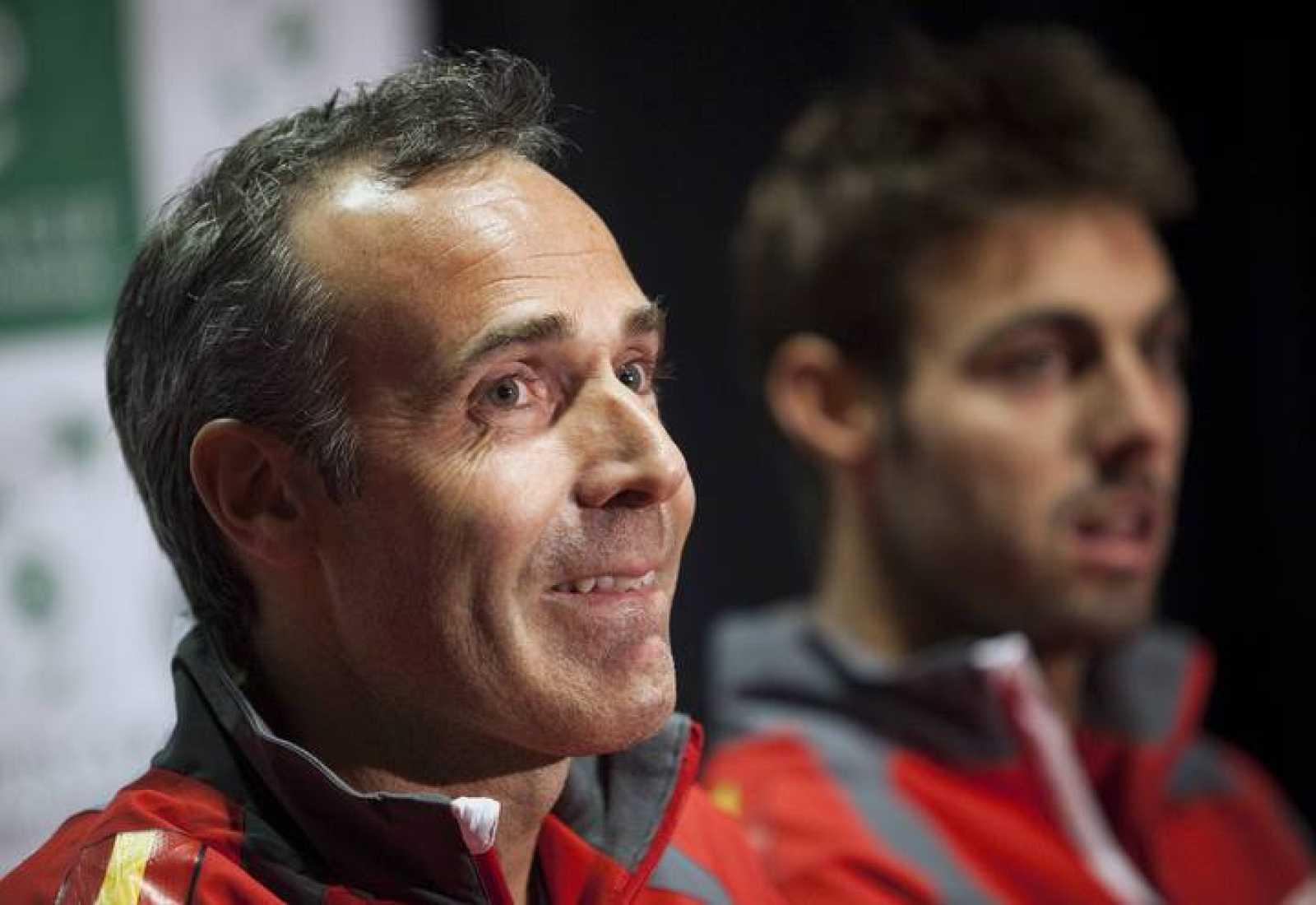 Alex Corretja, capitán español de Copa Davis, en rueda de prensa previa al Canadá - España