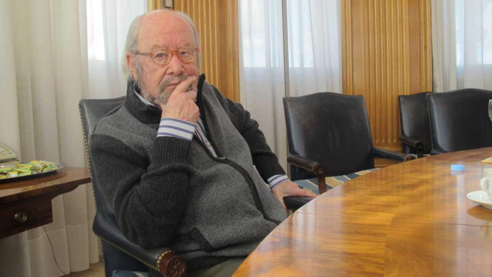 José Manuel Caballero Bonald, esta mañana en Madrid.