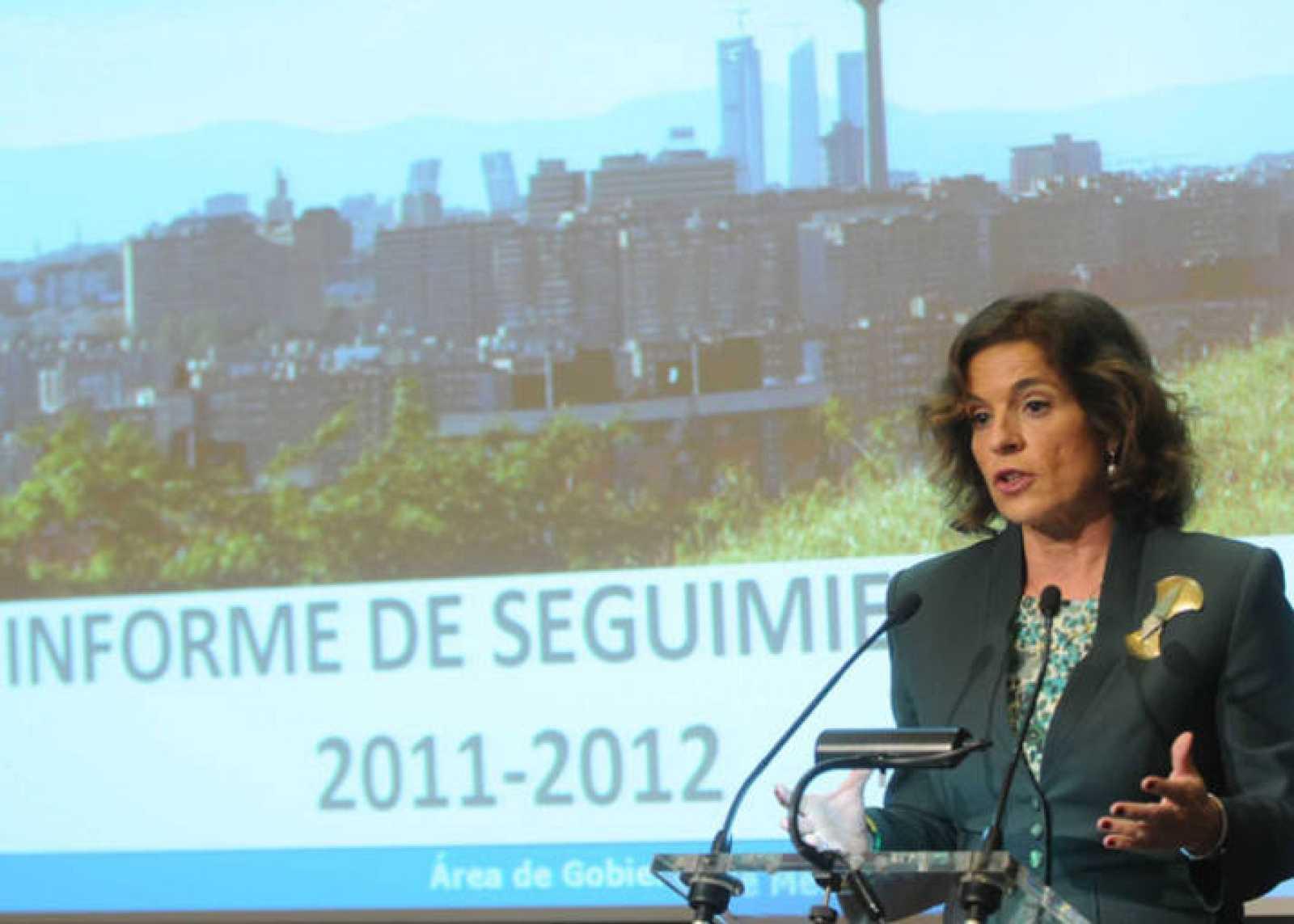 Ana Botella en la presentación del Plan de Calidad del Aire