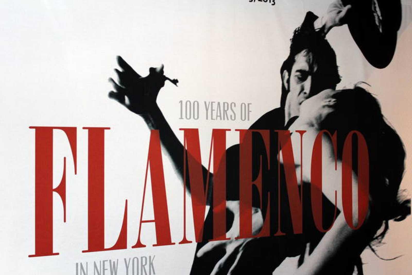 Afiche que se exhibe en la exposición '100 años de flamenco en Nueva York'