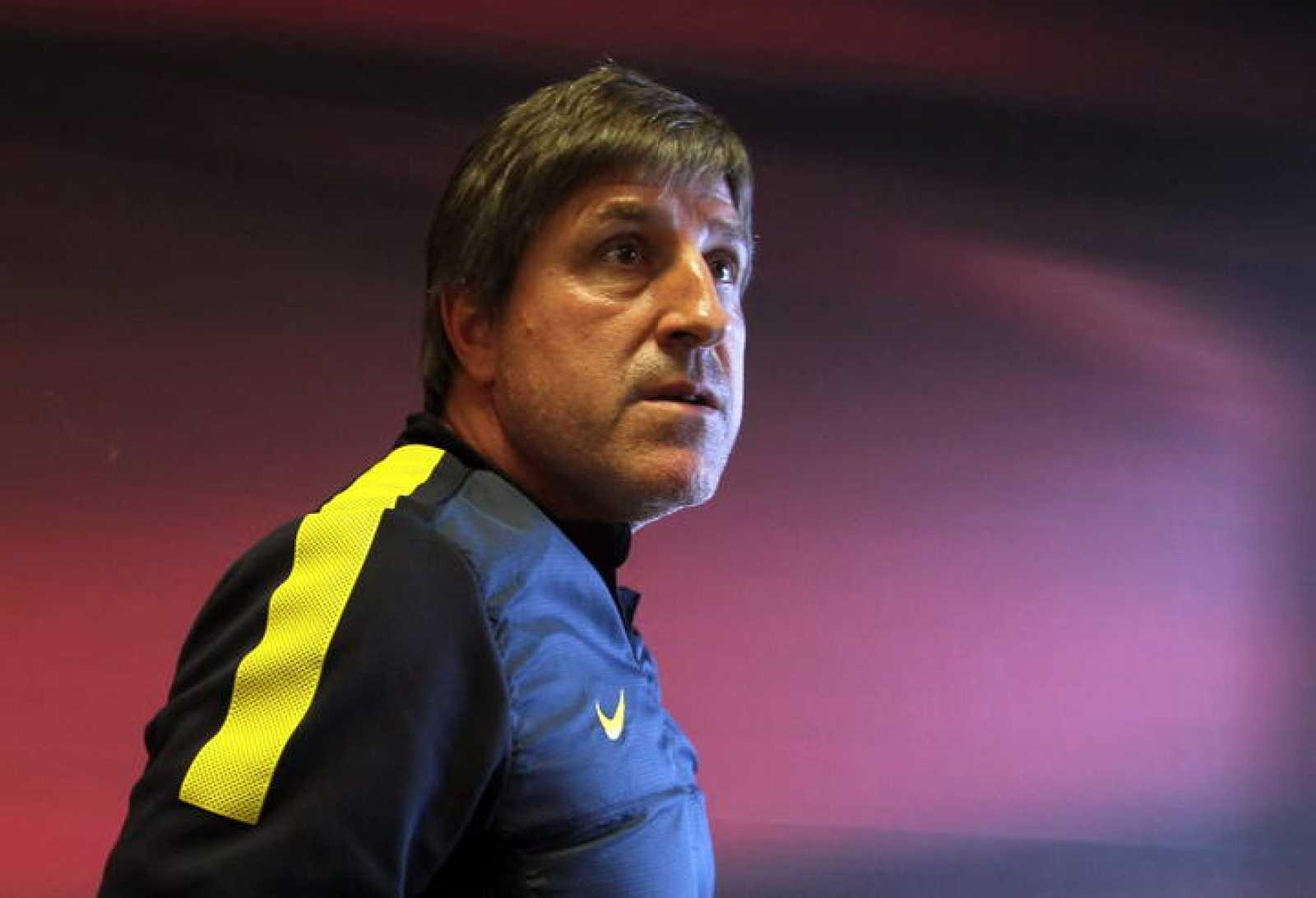 Rueda de prensa del segundo entrenador azulgrana, Jordi Roura