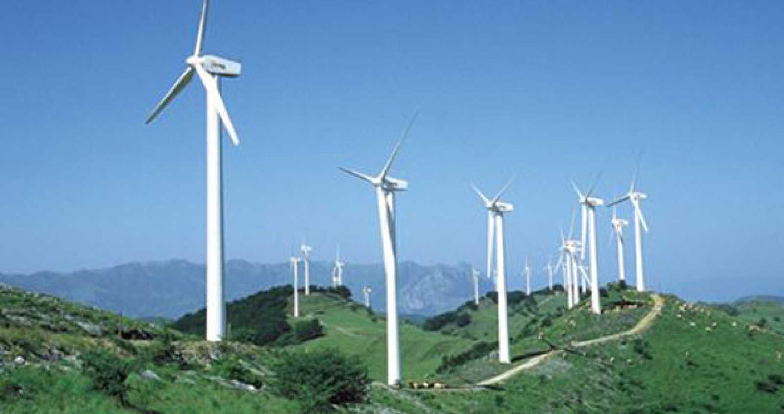 Parque eólico de Leitza en Navarra