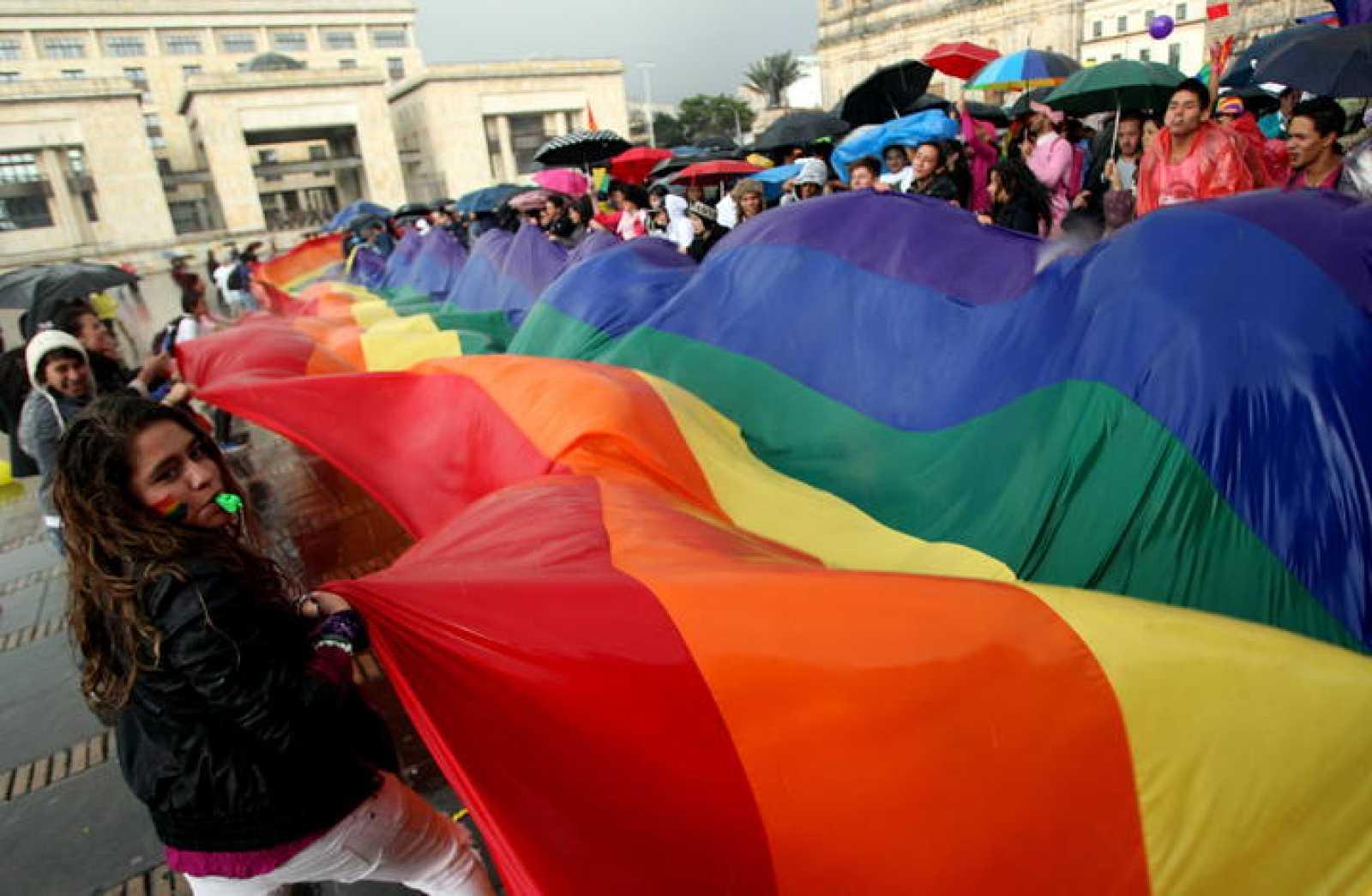 Manifestaciones a favor del matrimonio homosexual en Bogotá.