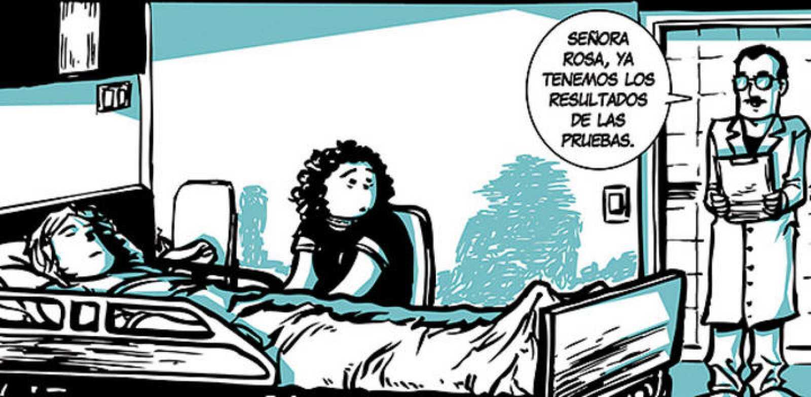 Fragmento de una viñeta de 'Rosa y Javier', de Paco Hernández y Jose Ángel Ares