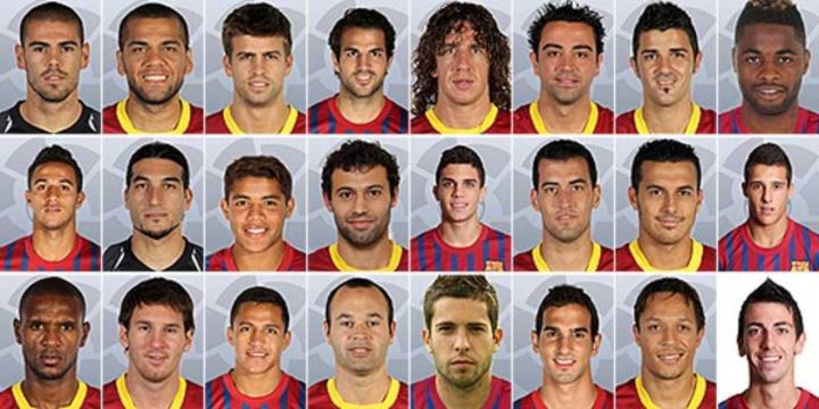 Plantilla del FC Barcelona 2012/2013.