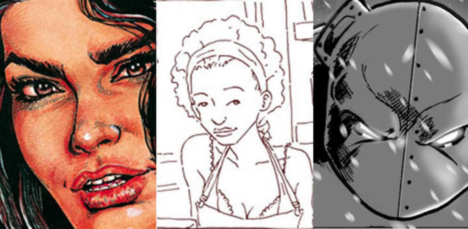 Ilustraciones de 'Sexy melodies', 'Pornográfica' y 'Beartoncity 2'
