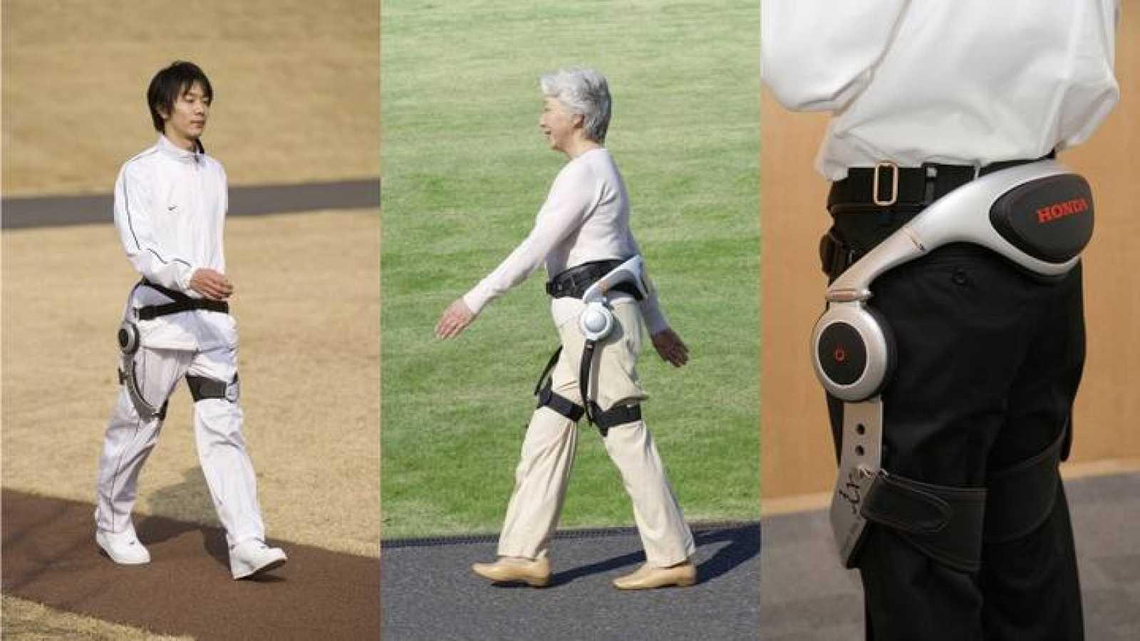 Ejemplo del uso en personas del 'Asistente para Caminar'.
