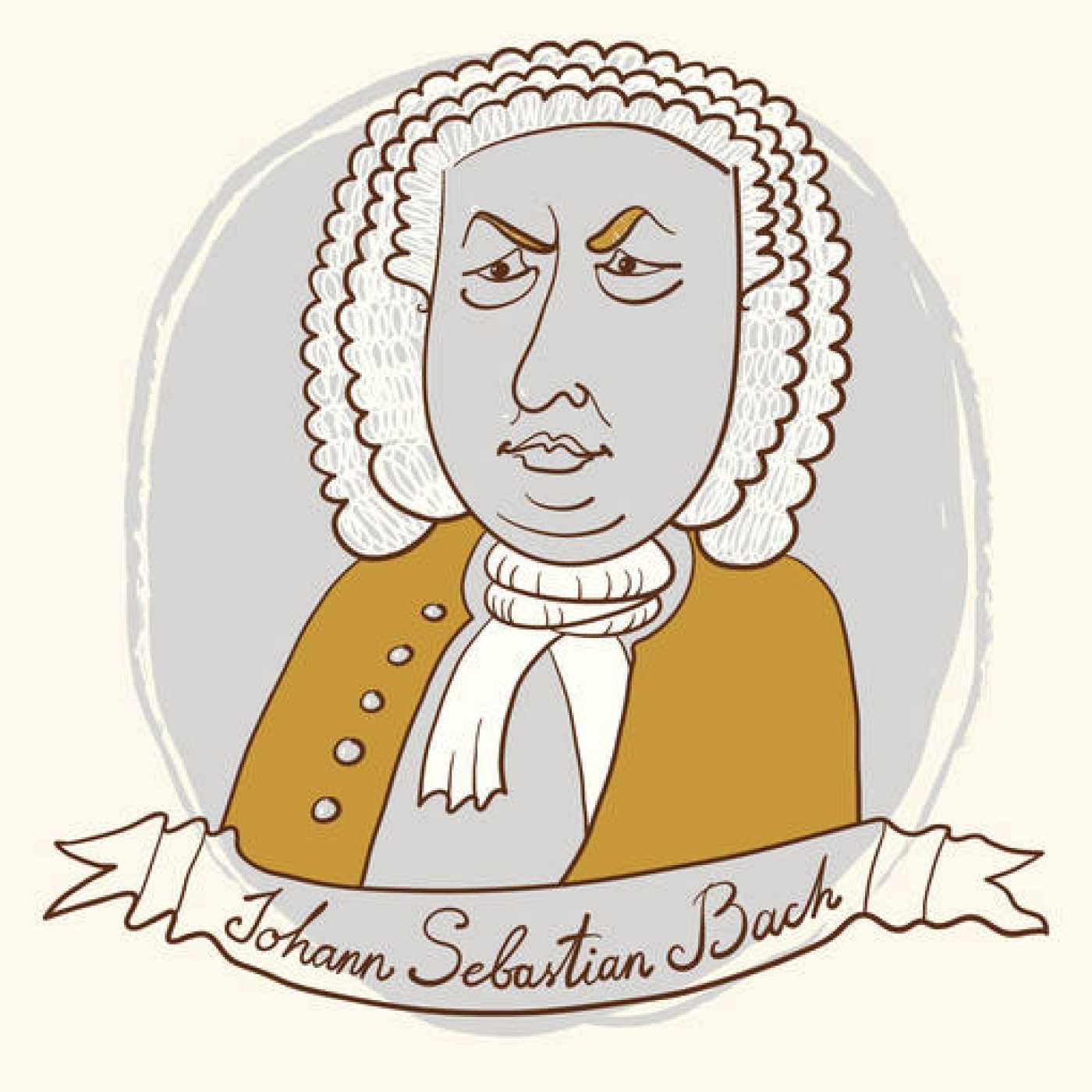 Ilustración de Johann Sebastian Bach.