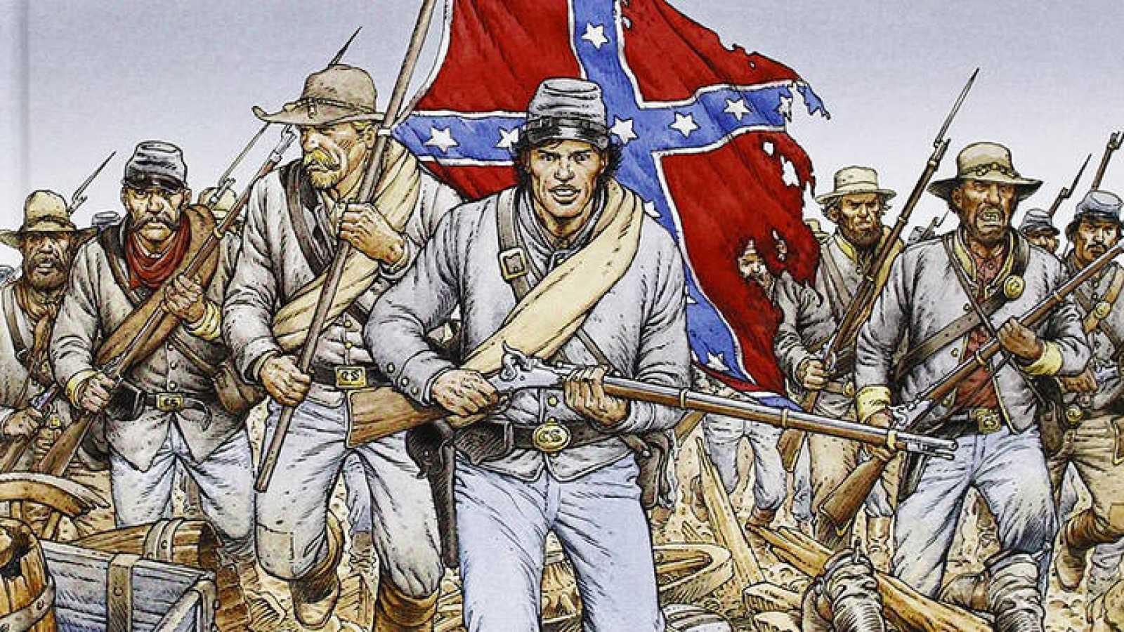 Fragmento de la portada de 'La juventud de Blueberry: Gettysburg'