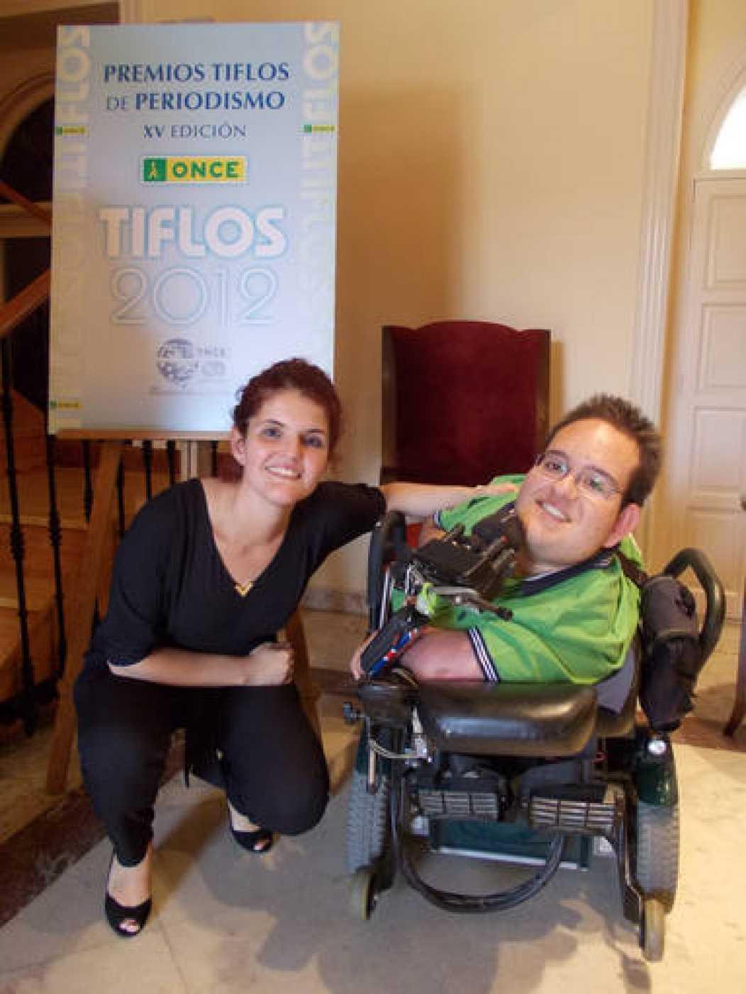 Patricia Costa con José Luis, protagonista del reportaje premiado