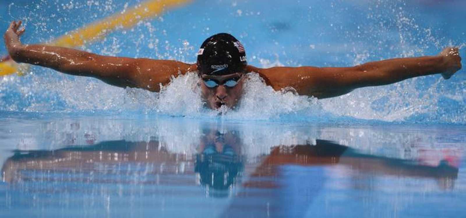 Ryan Lochte suma su primer oro en estos Mundiales de Natación de Baarcelona.