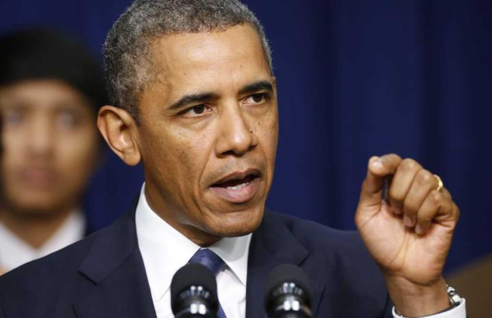 El presidente de EE.UU., Barack Obama, durante su discurso sobre economía ofrecido el 16 de septiembre