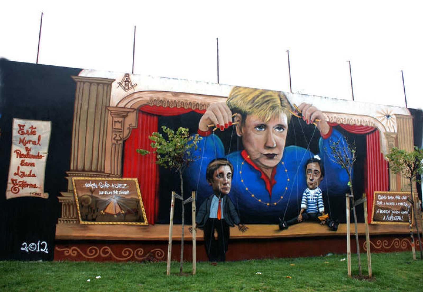 Grafiti del artista portugués Nomen