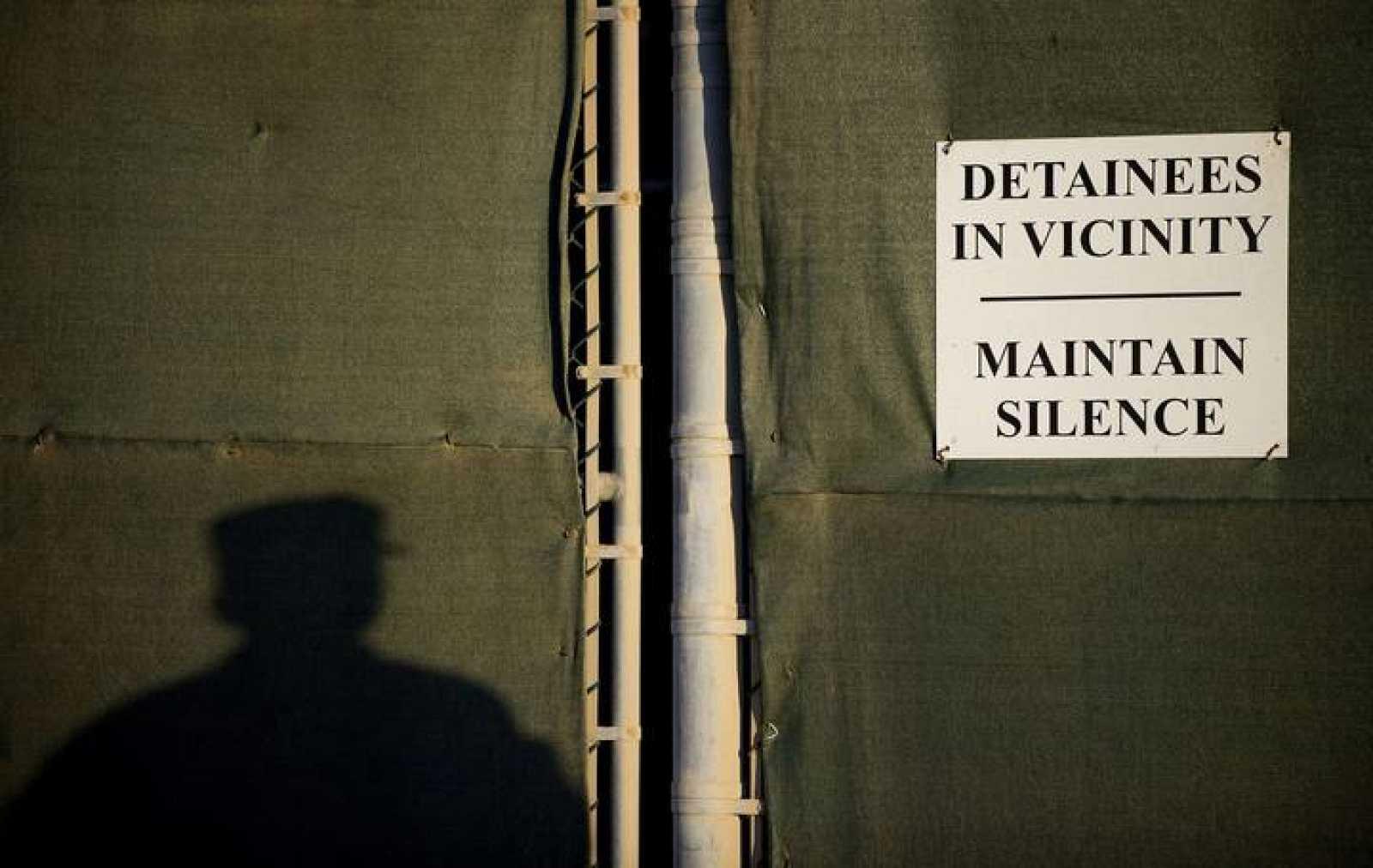 """Imagen del """"Campo Cinco"""", en la base de EE.UU. en Guantánamo, Cuba"""