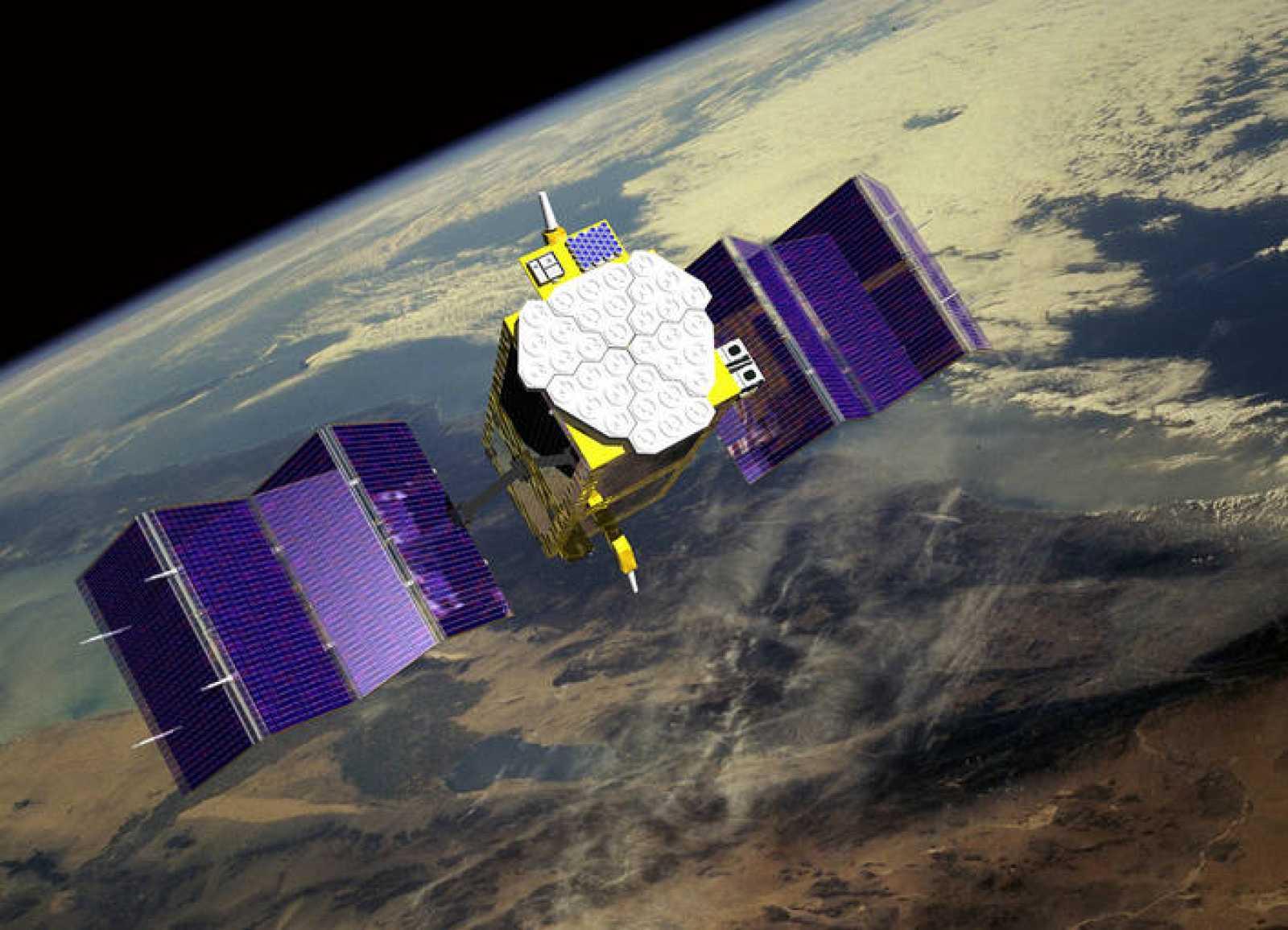 Ilustración de un satélite Galileo