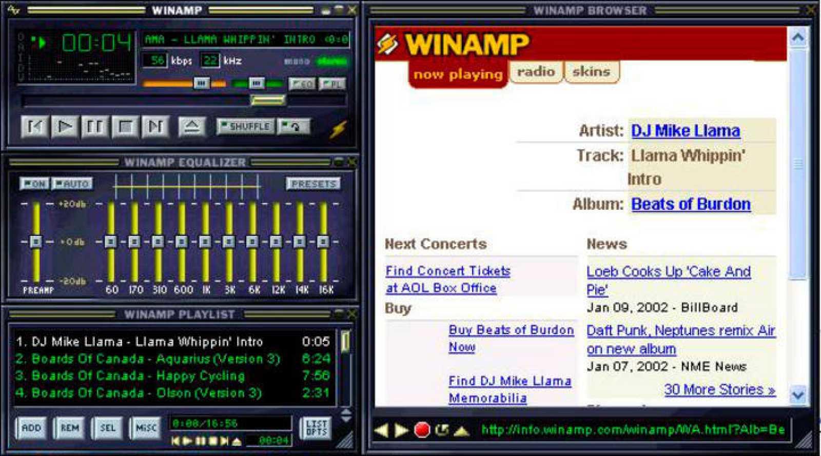 Skin de Winamp, el software que despierta tantas nostalgias.