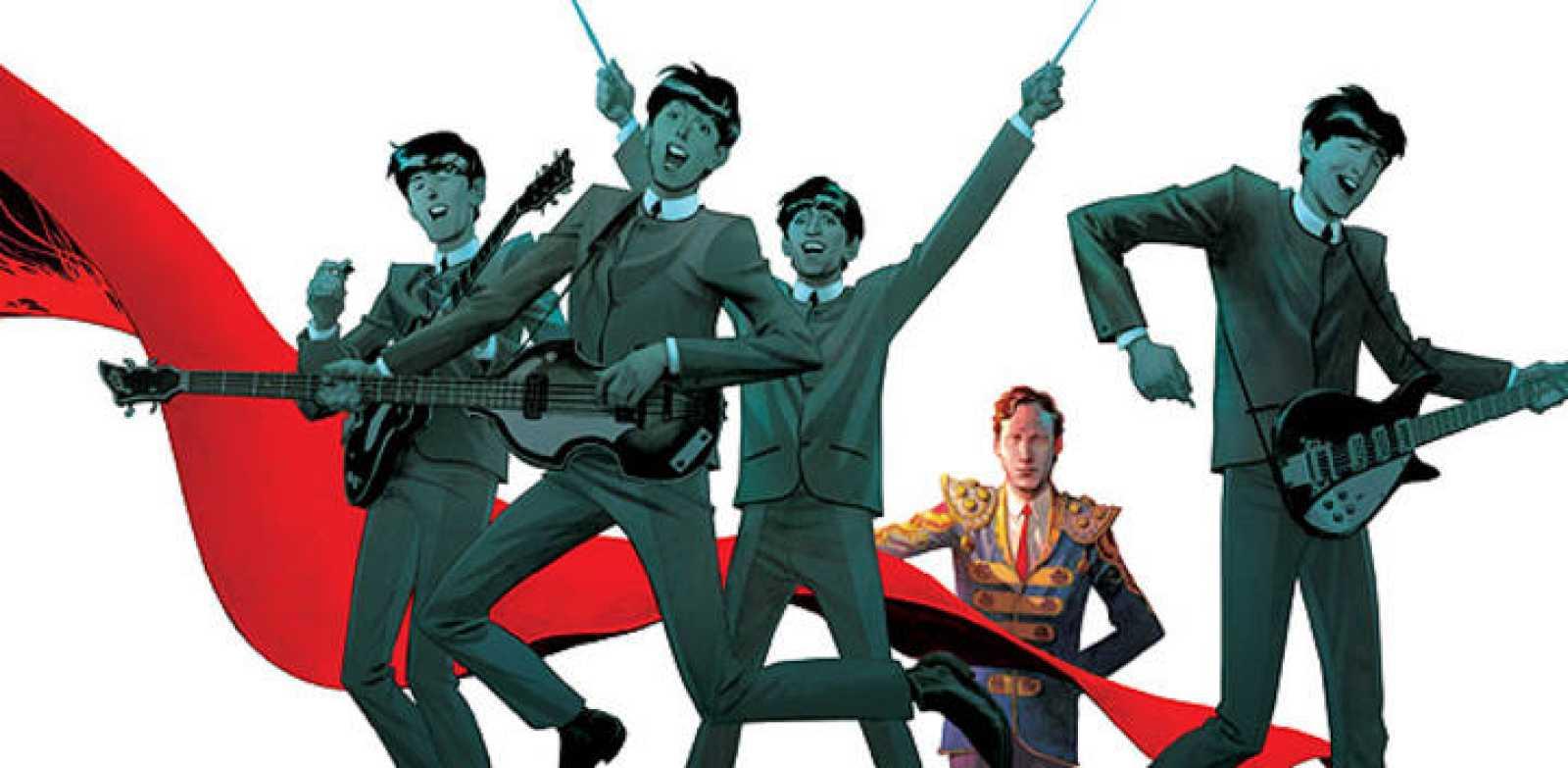 Fragmento de la portada de 'El quinto Beatle. La historia de Brian Epstein'