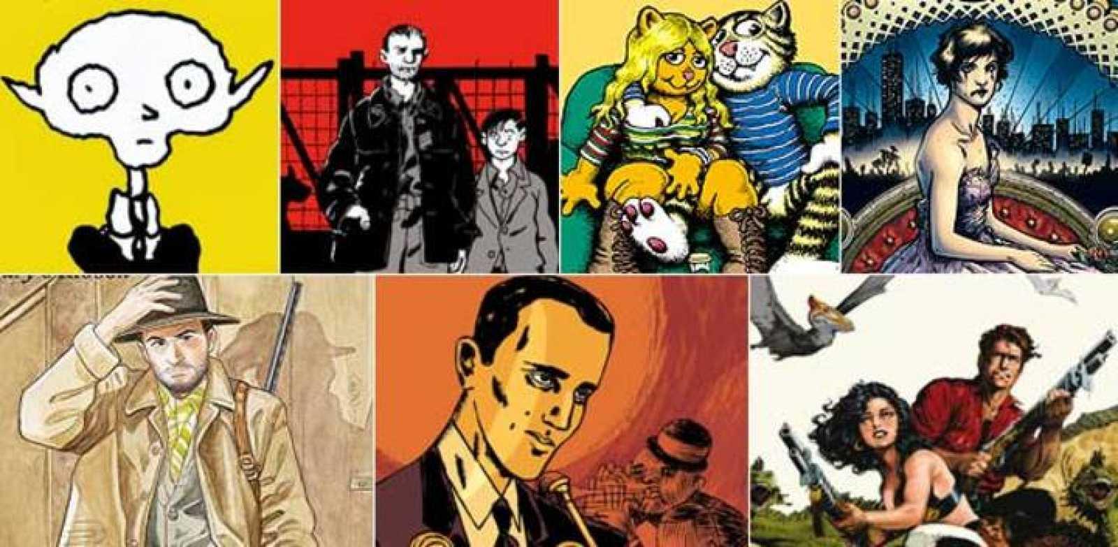 Imágenes de 'Vampir', 'Yo, René Tardi prisionero de guerra en Stalag IIB', 'Las 7 vidas del gato Fritz', 'Fashion Beast', 'El Sabueso 01: St Mary's Ribbon', 'Piscina Molitor/La vida swing de Boris Vian' y 'Xenozoic'