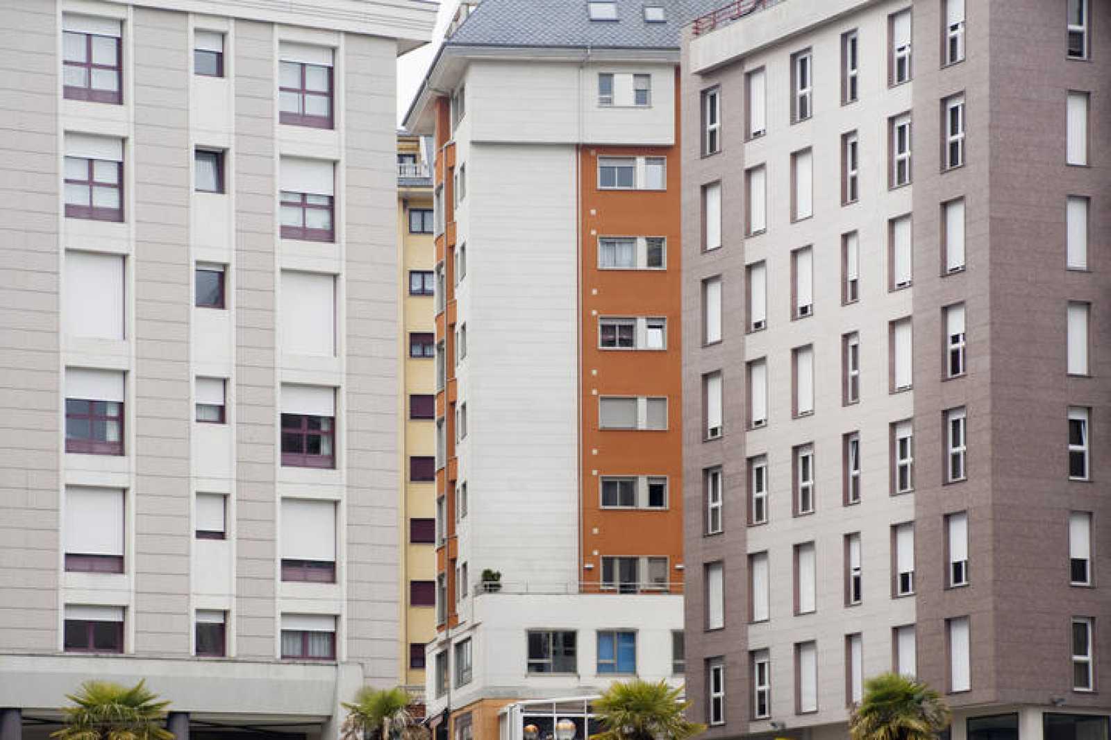 Bloques de pisos de reciente construcción