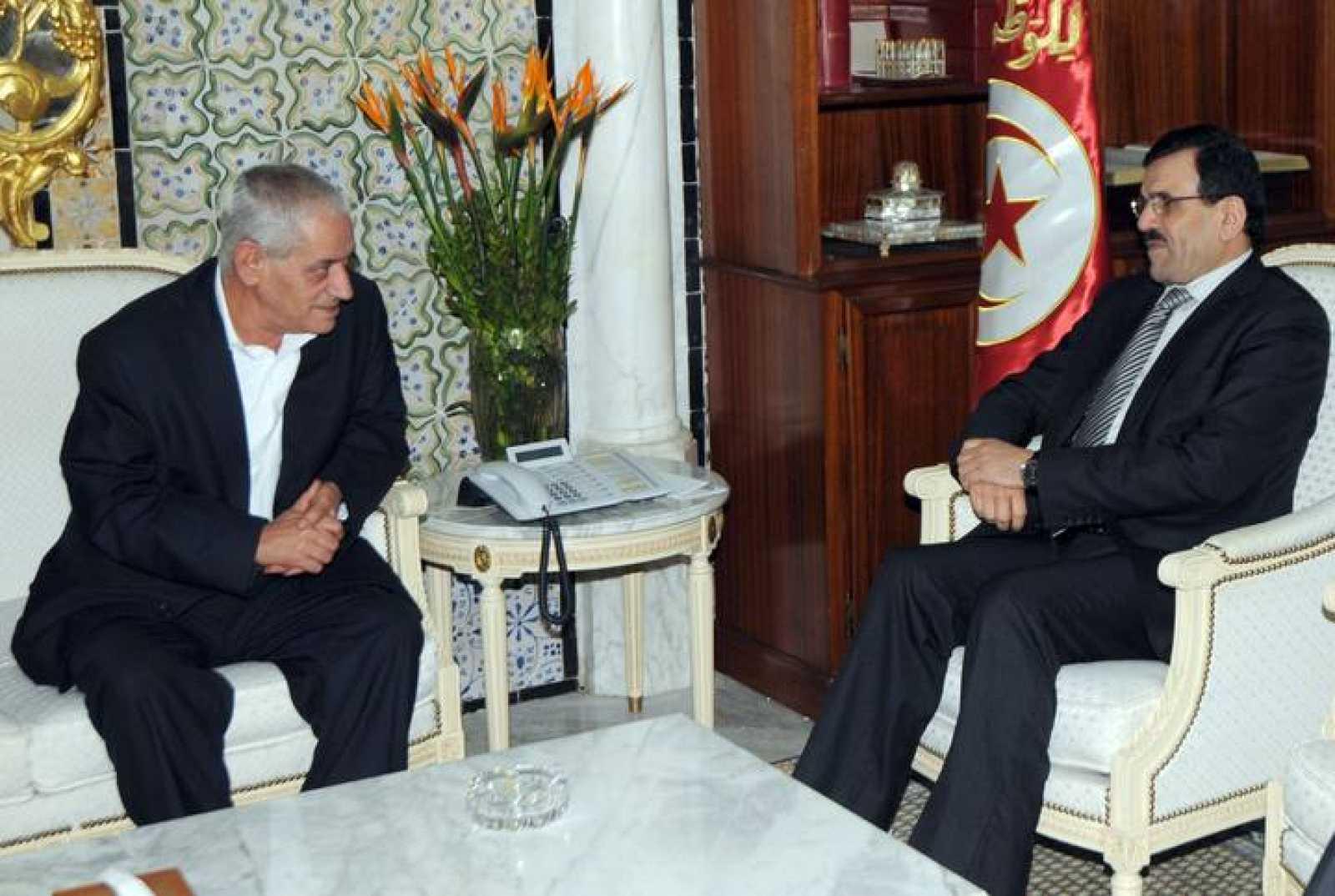 El primer ministro saliente de Túnez, Ali Laridi