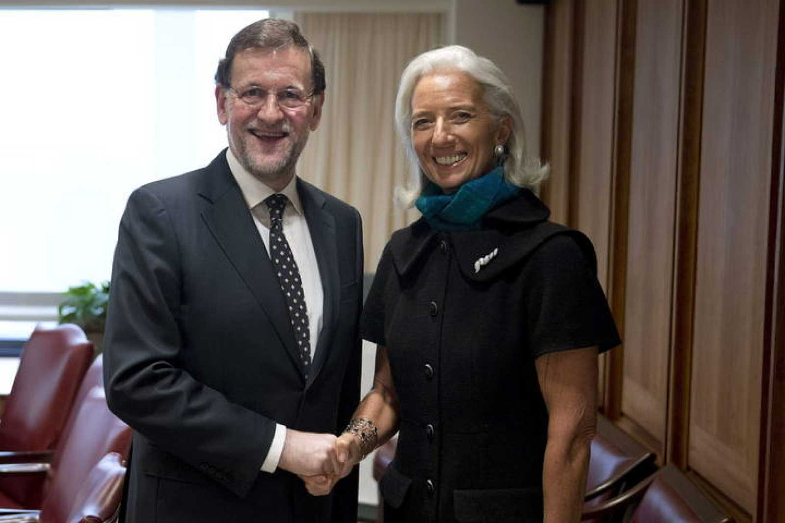 RAJOY SE REÚNE CON LA DIRECTORA GERENTE DEL FONDO MONETARIO INTERNACIONAL (FMI), CHRISTINE LAGARDE