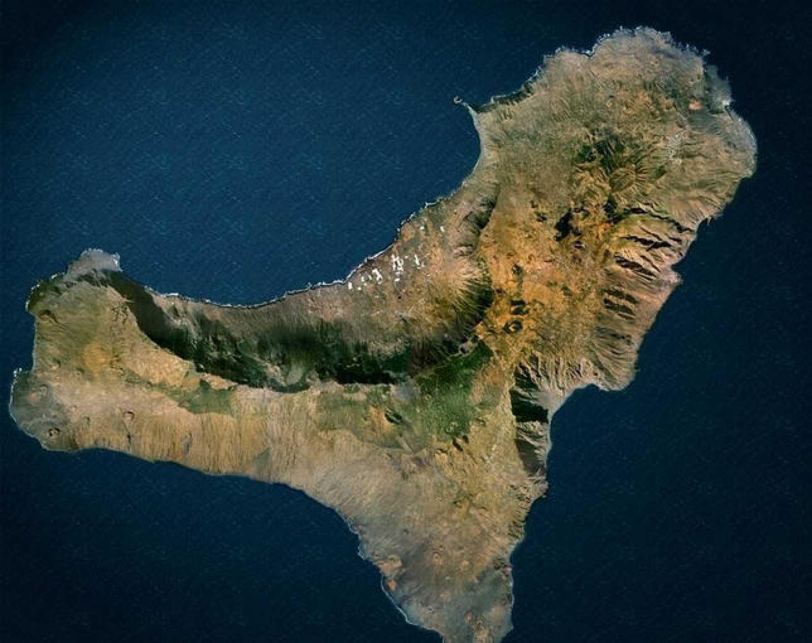 Imagen satélite de la isla de El Hierro.