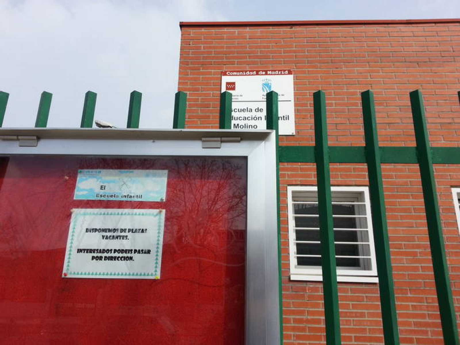 Escuela infantil pública de Fuenlabrada (Madrid) con plazas vacantes