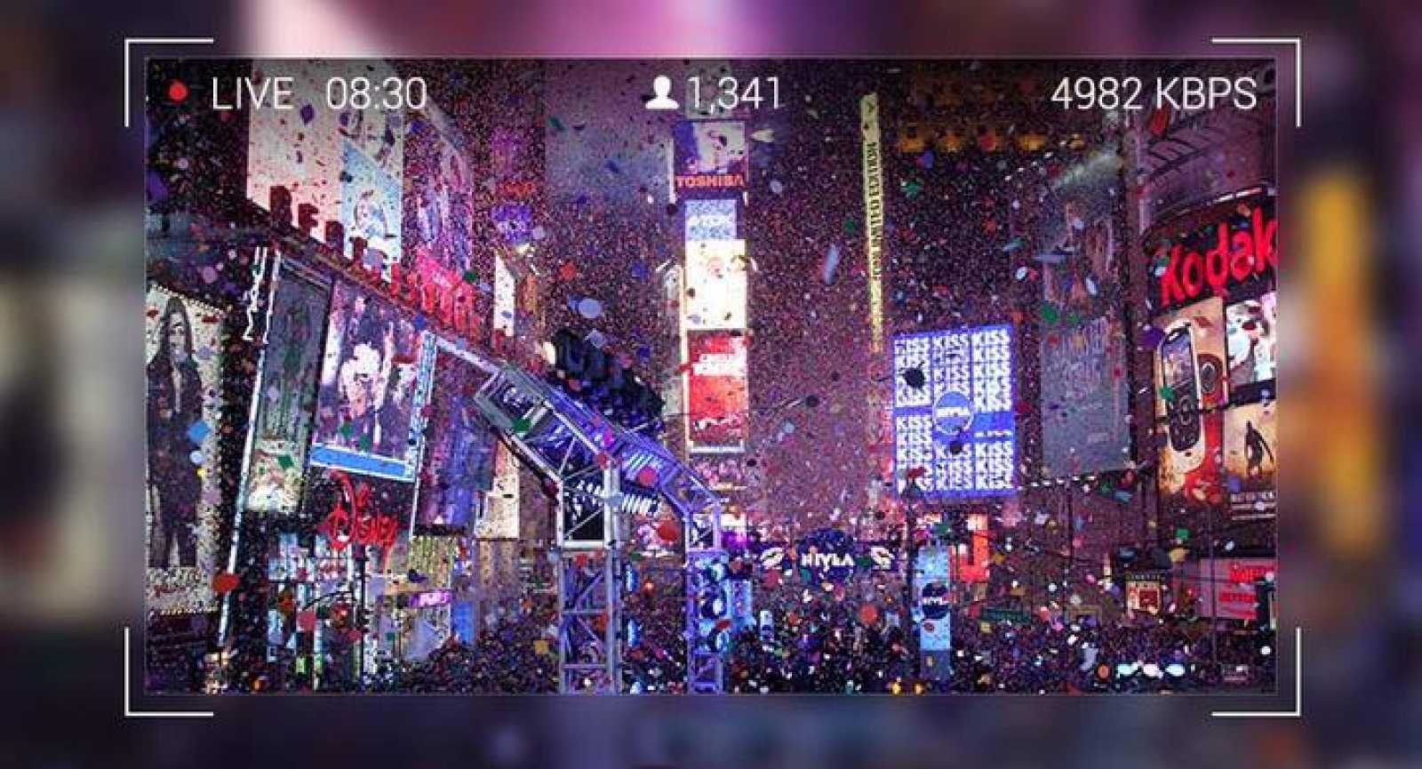 Reproducción de la vista de un evento en directo con Google Glass.