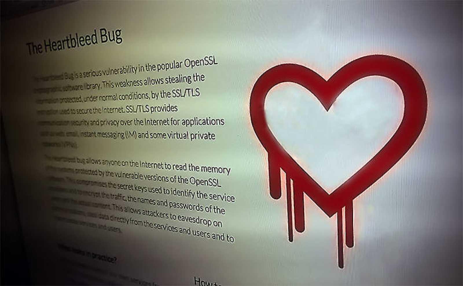 La página que habla del error Heartbleed.