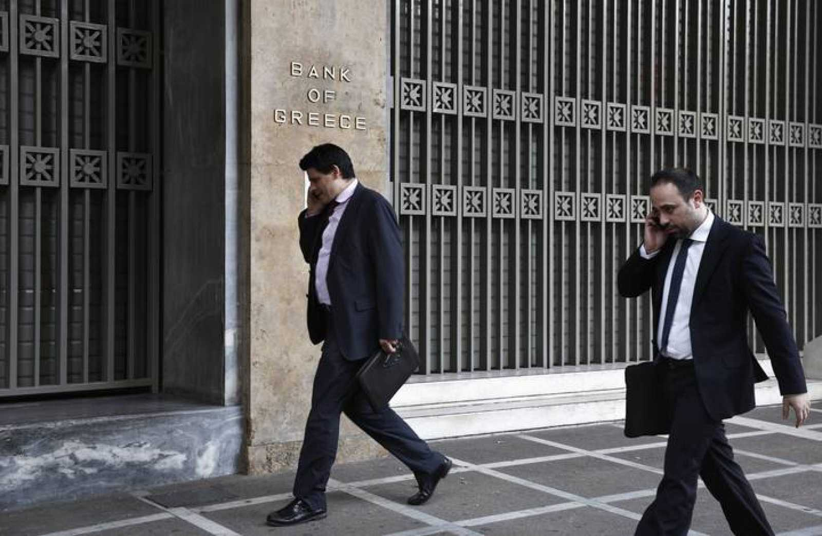 Exterior del Banco de Grecia