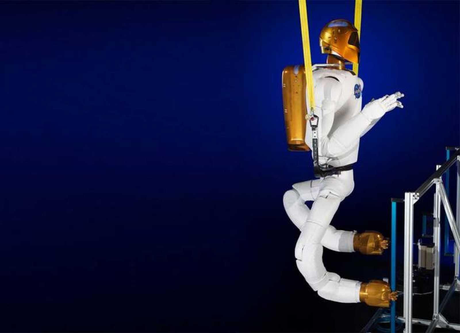 El juego de piernas para Robonaut 2, uno de los dos robots que hay a bordo de la EEI.