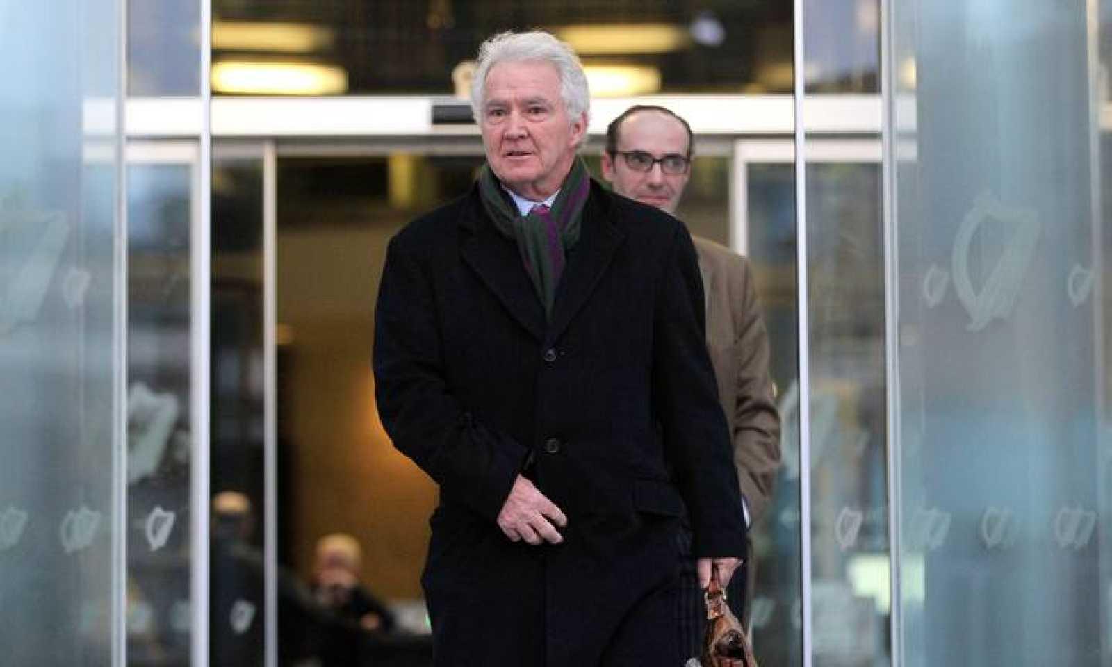 El exdirector ejecutivo del Anglo Irish Bank Sean Fitzpatrick en una imagen de archivo