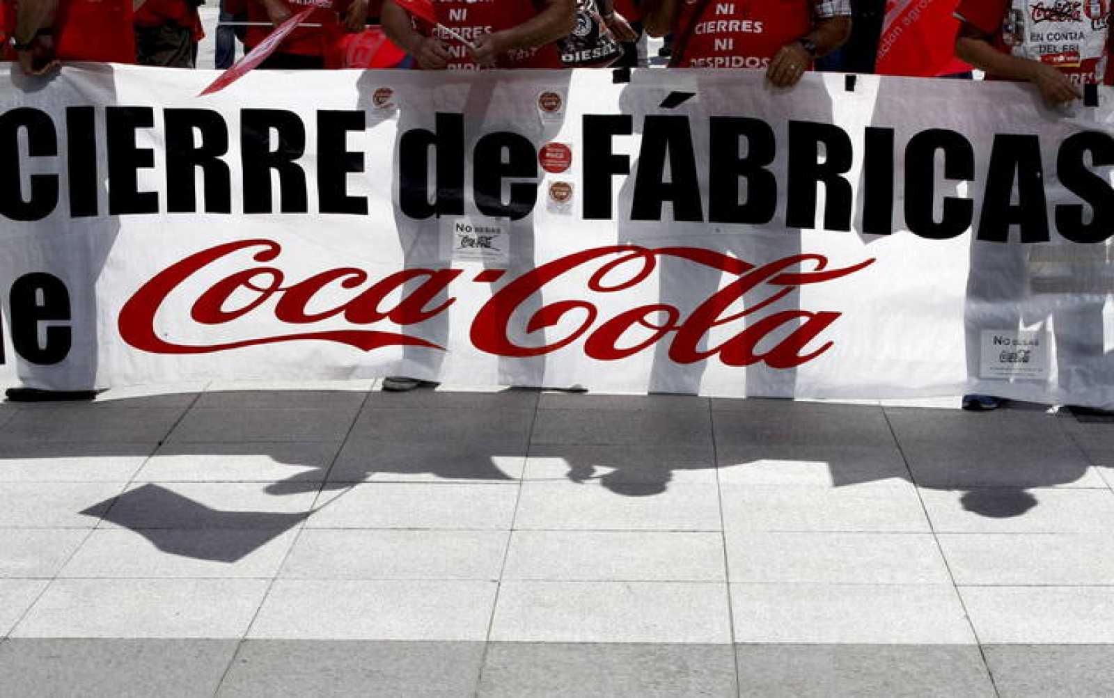 Concentración de los trabajadores de las embotelladoras de Coca-Cola el 5 de mayo