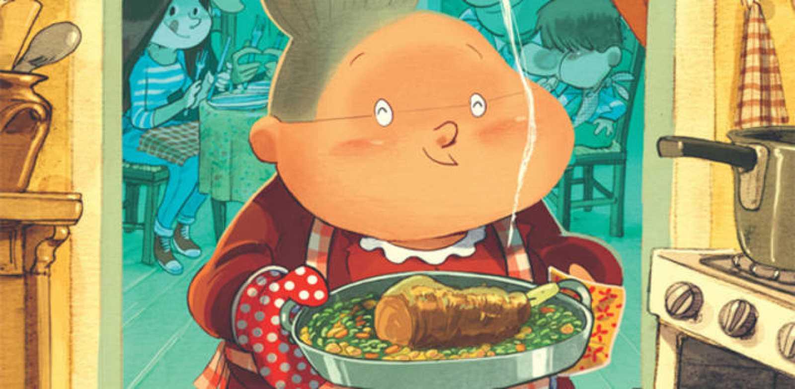 Fragmento de la portada de 'La cocina de Naneta'