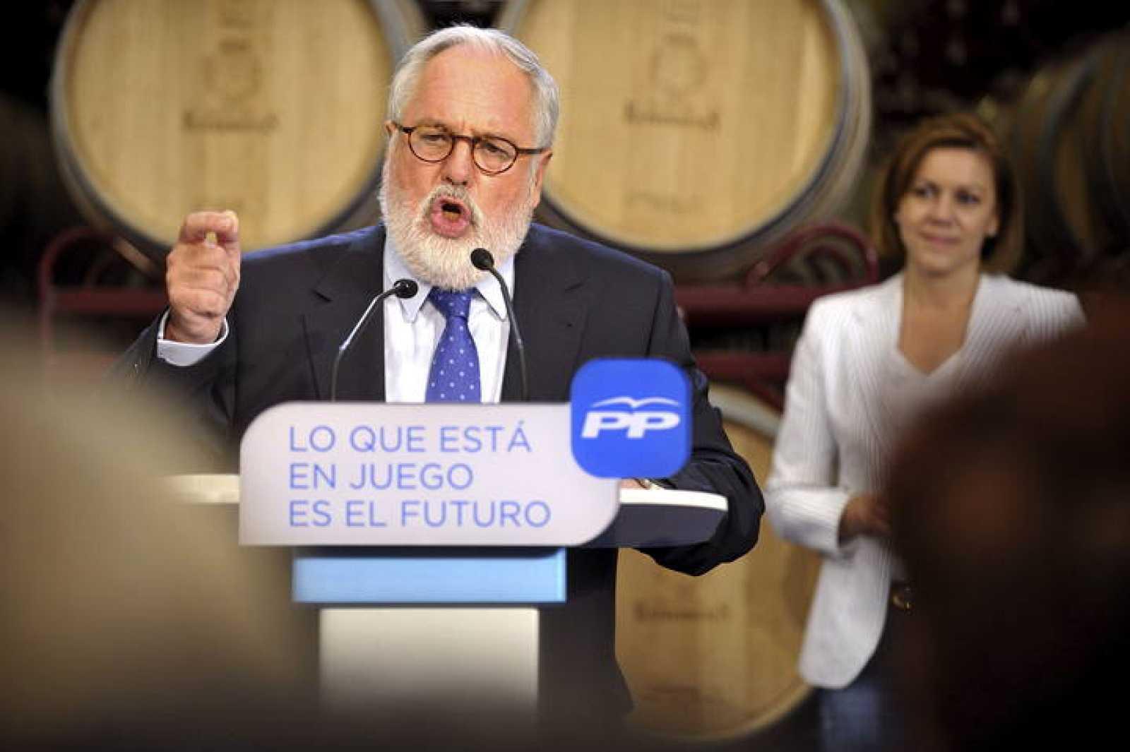 Miguel Arias Cañete durante un acto en Toledo