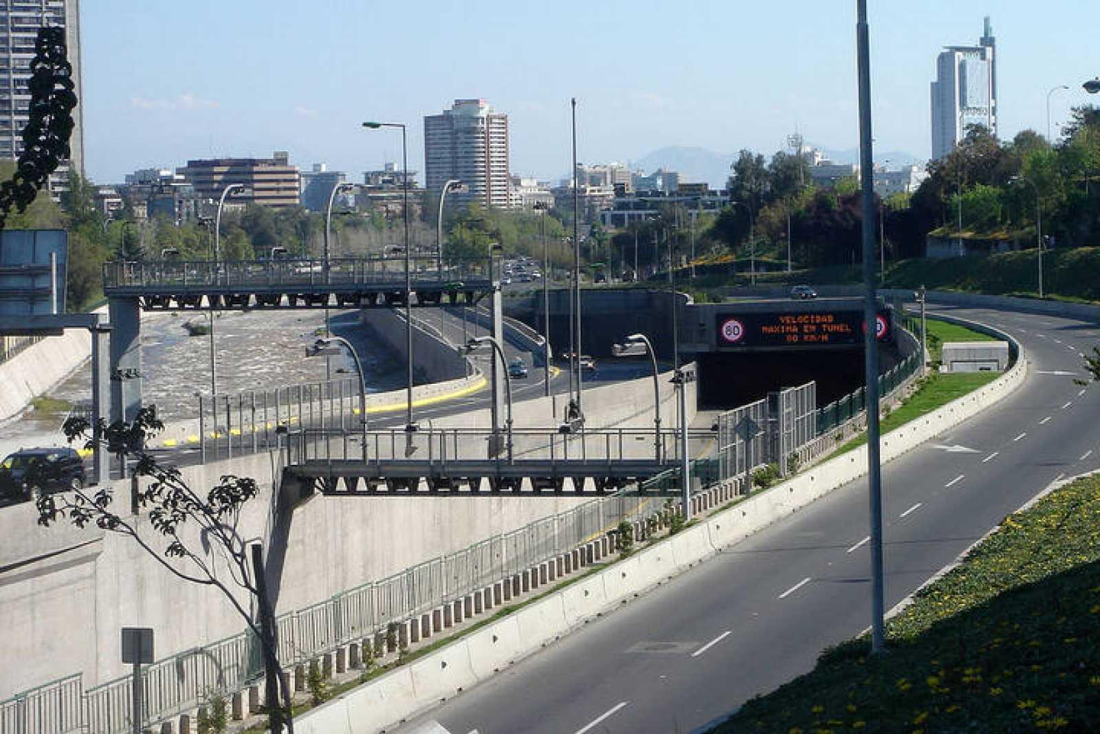 Autopista de peaje en Chile