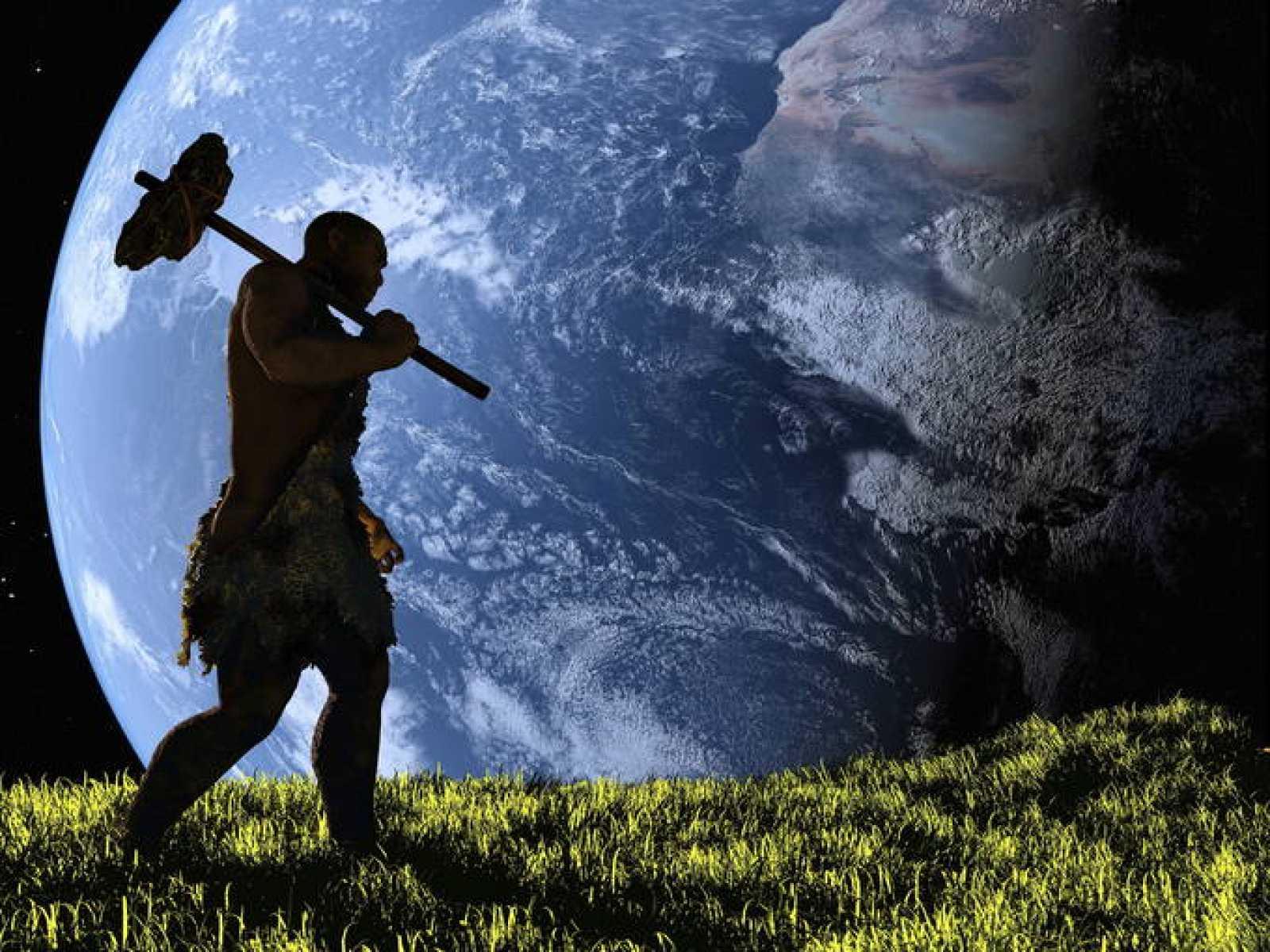 Recreación gráfica de un hombre primitivo