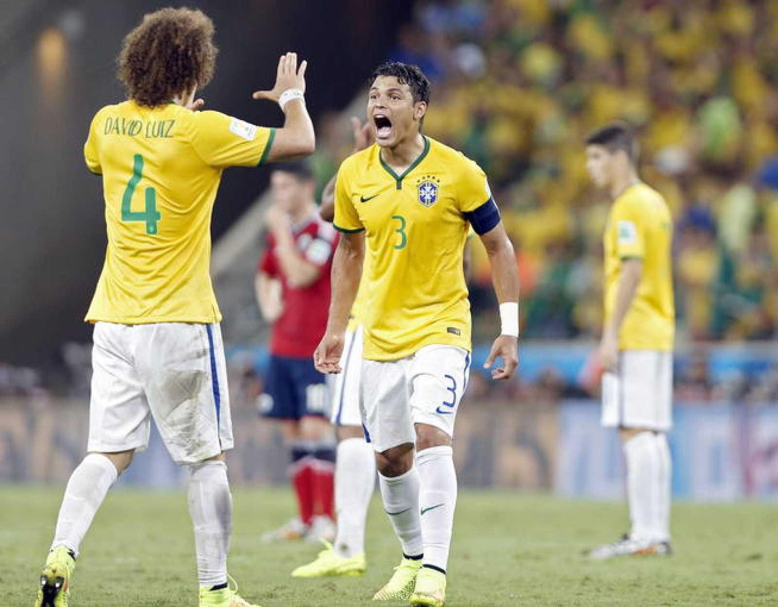 David Luiz y Thiago Silva, los protagonistas del Brasil - Colombia