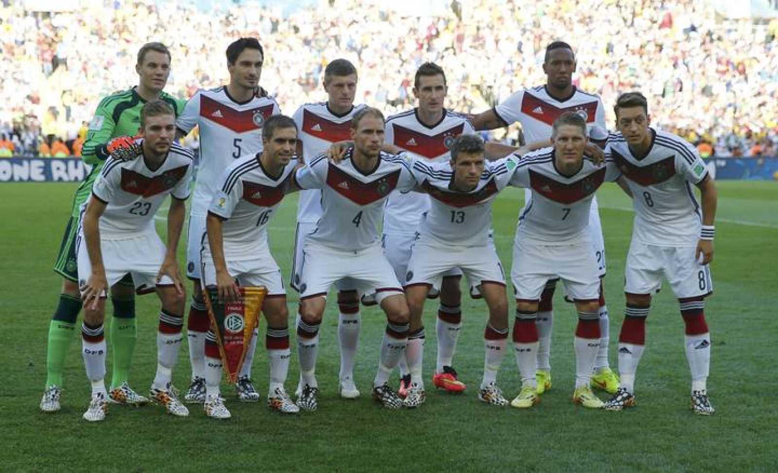 La selección de Alemania, antes de la final