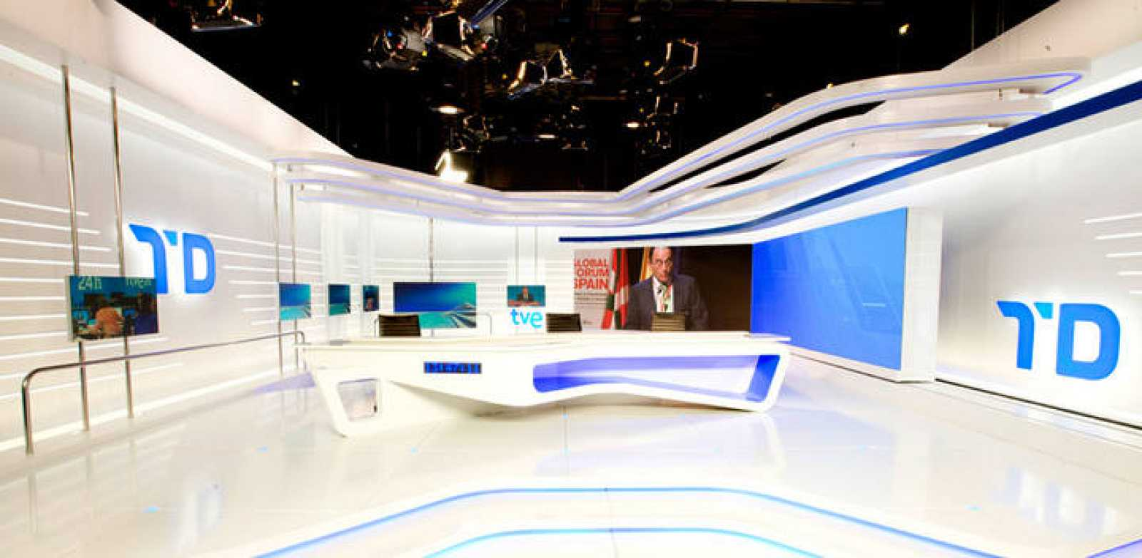 El plató de Informativos de TVE