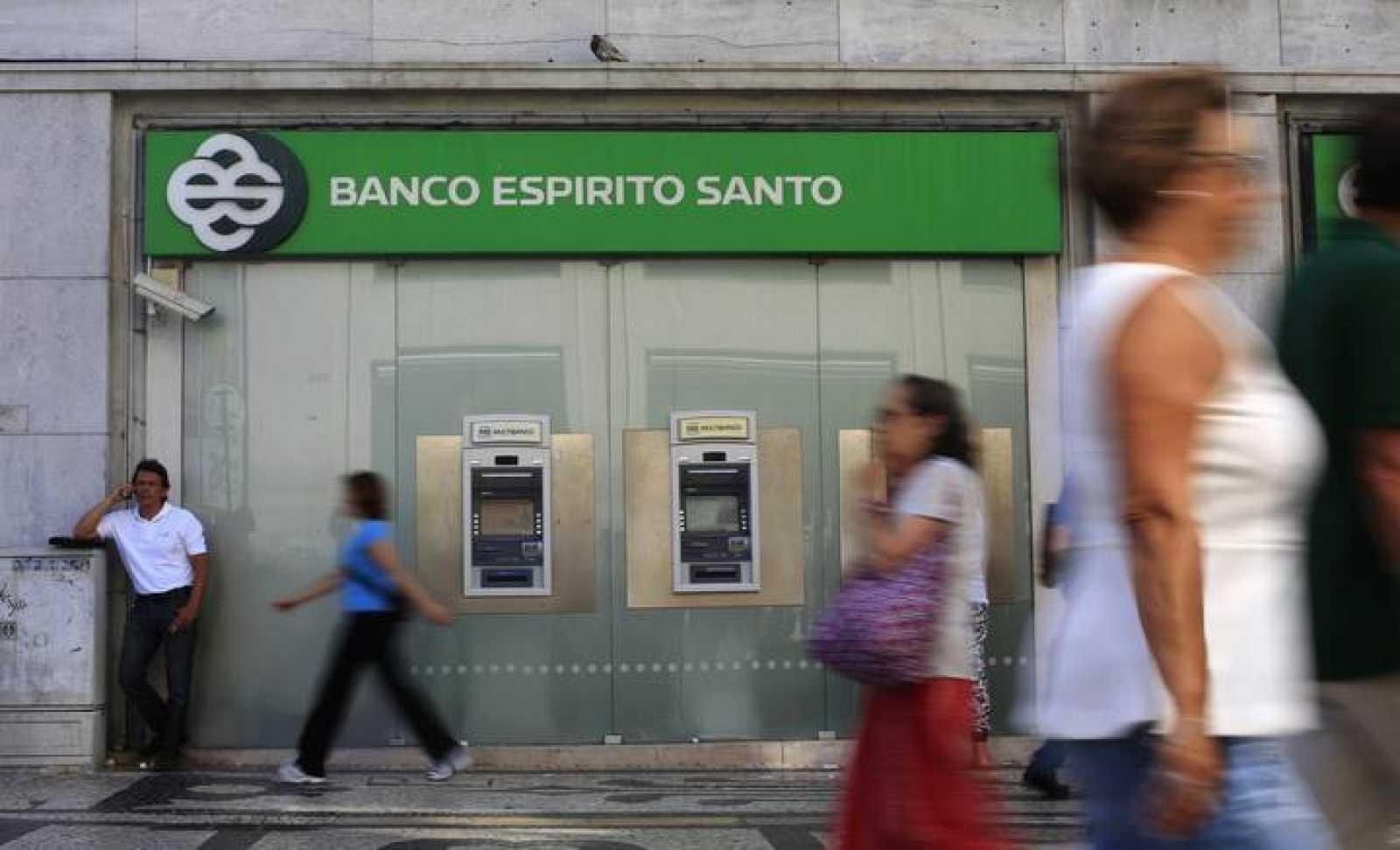 Una sucursal de Banco Espírito Santo en Lisboa