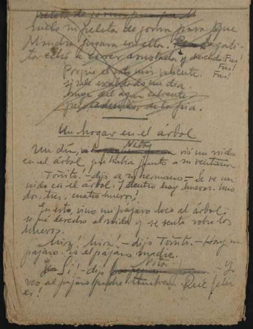 Últimos manuscritos de Miguel Hernández