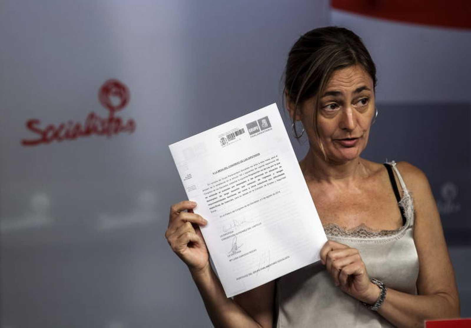 La secretaria de Empleo del PSOE, Mari Luz Rodríguez