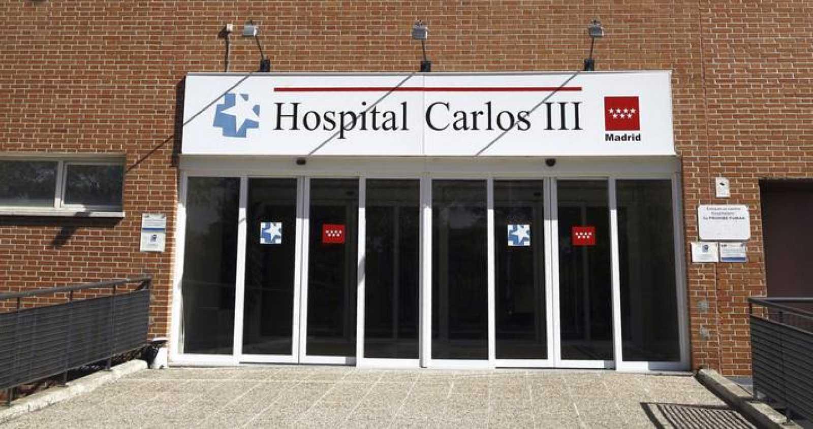 Puerta de entrada al Hospital Carlos III de Madrid