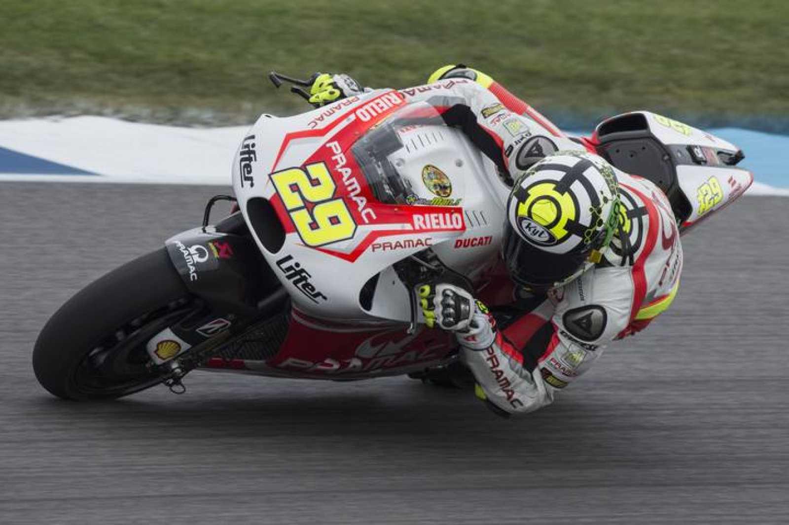 Andrea Iannone, en el circuito de Brno.