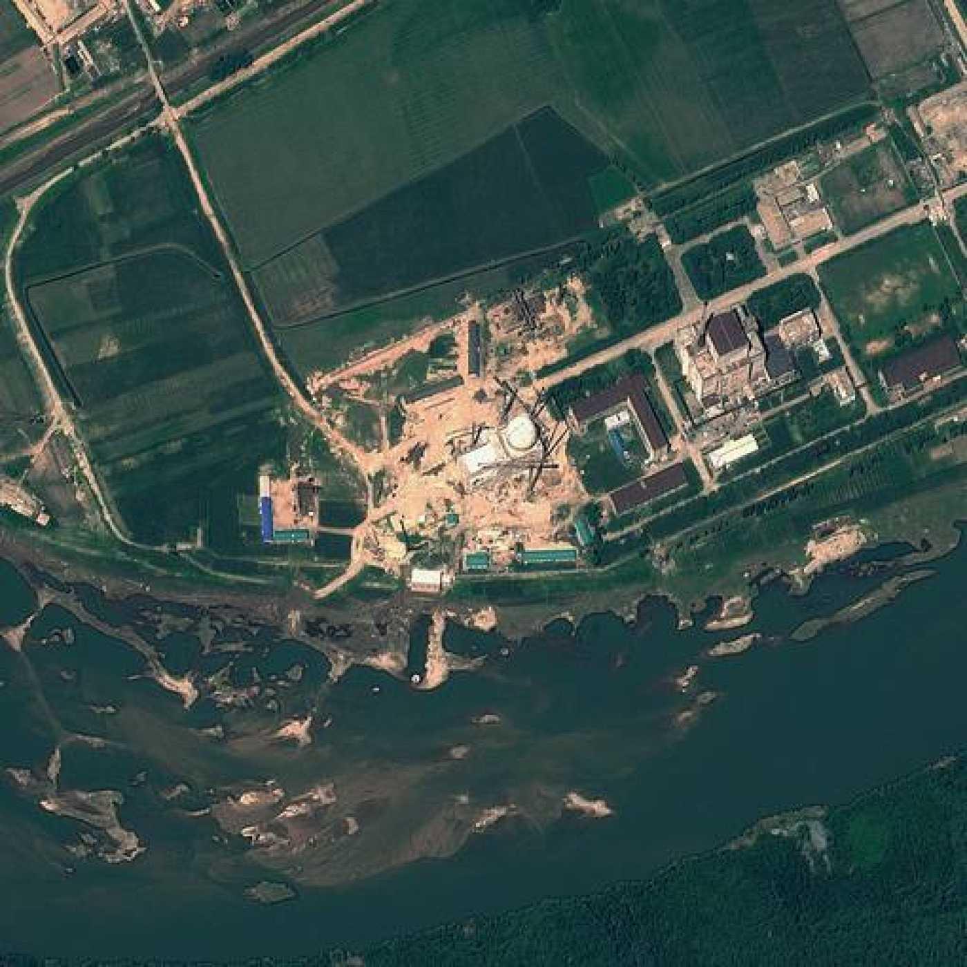 Imagen de satélite de agosto de 2012 de la central nuclear de Yongbyon