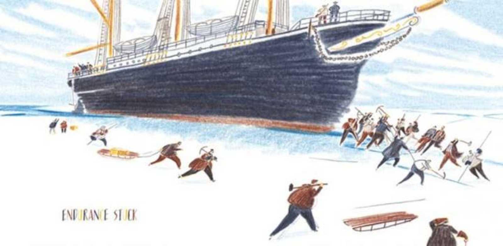 Ilustración de William Grill para 'El viaje de Shackleton'